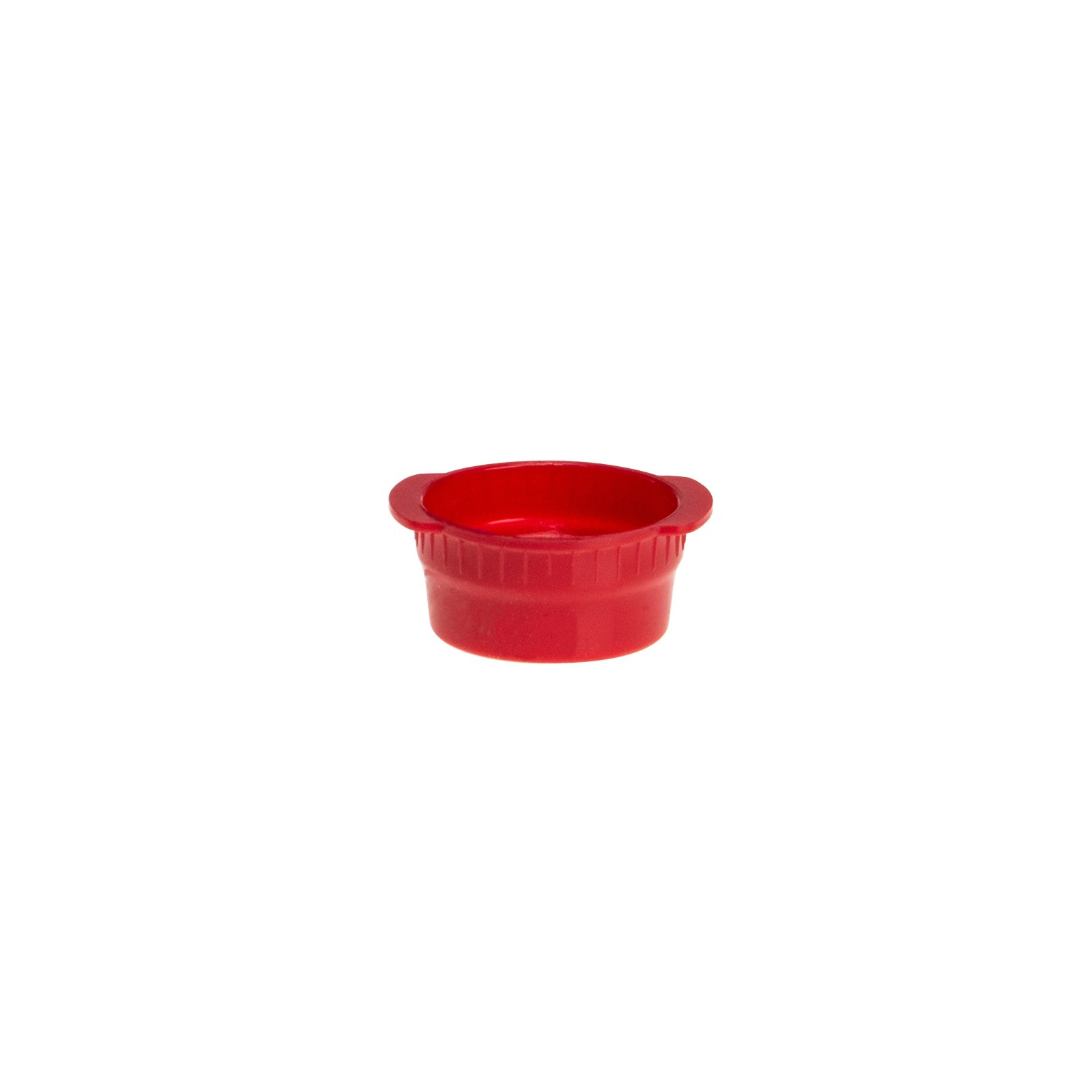 Red Case of 6000 Simport Vacucap T402-13R Polyethylene Tube Closure for 13mm Tube